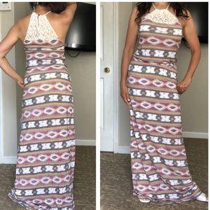 Lucky Brand Maxi Crocheted Dress